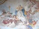 Freskař F. A. Scheffler se školil v barokní malbě, která propojuje pozemskou a