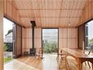 Veranda je díky jemným latím skvělým místem i v horkém létě, aniž by byla třeba