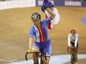 SLZY ŠTĚSTÍ. Na šampionátu v Minsku získala zlatou medaili v bodovacím závodě
