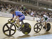 V �ELE. �eská cyklistka Jarmila Macha�ová vévodí pelotonu na �ampionátu v
