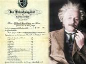 Albert Einstein navzdory tomu, co se pov�d�, v matematice i fyzice exceloval.