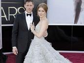 Amy Adams v šatech Oscar de la Renta