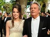 Alain Delon a jeho dcera Anouschka (Cannes 2010)
