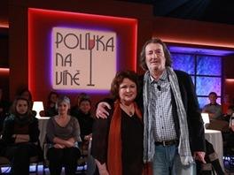 Naďa Konvalinková a Bolek Polívka v pořadu Polívka na víně