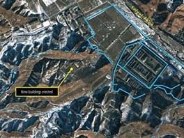 Satelitní snímek rozšířeného severokorejského Tábora číslo 25 v roce 2011