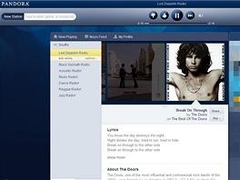 Pandora s pou�it�m dopl�ku Hola Unblocker