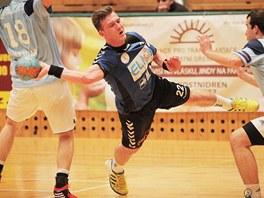 Plzeňský Michal Tonar v utkání proti Hranicím.