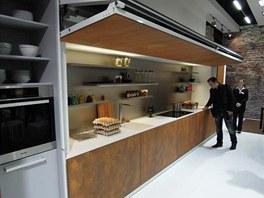 Koncept kuchyně Hidden Kitchen společnosti Warendorf. Kuchyně je ukrytá za