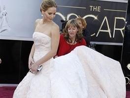 Jennifer Lawrence v šatech Dior Haute Couture