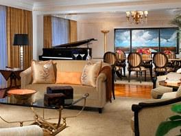 Interiér jednoho z luxusních bungalovů hotelu The Beverly Hills