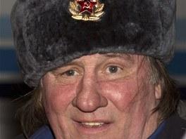 G�rard Depardieu na n�v�t�v� �e�enska (Groznyj, 24. �nora 2013)