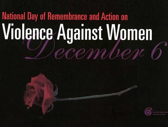 Plak�t ke dni proti n�sil� na �en�ch, Kanada, 6. prosince 2012