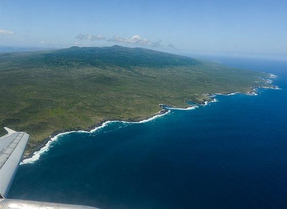 Ostrov San Cristobal zptačího pohledu