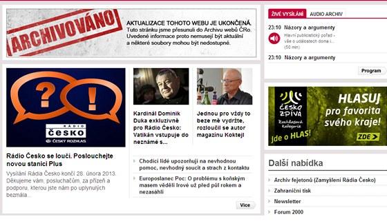 Rádio Česko se s posluchači rozloučilo i na internetu. Web stanice Leonardo