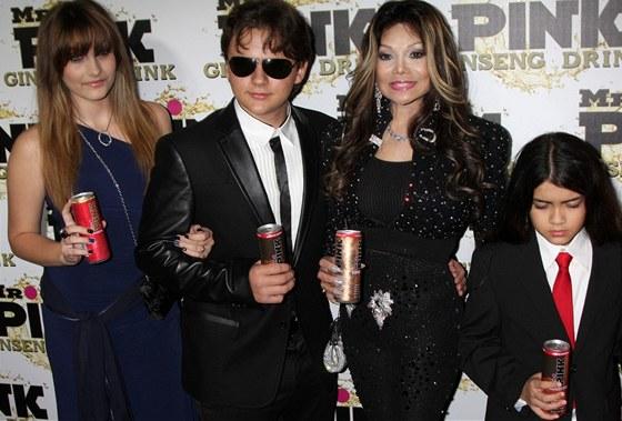 Děti Michaela Jacksona s tetou LaToyou