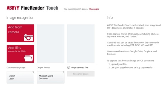 FineReader Touch