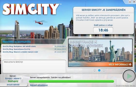 SimCity - �ek�n� na p�ihl�en� do hry