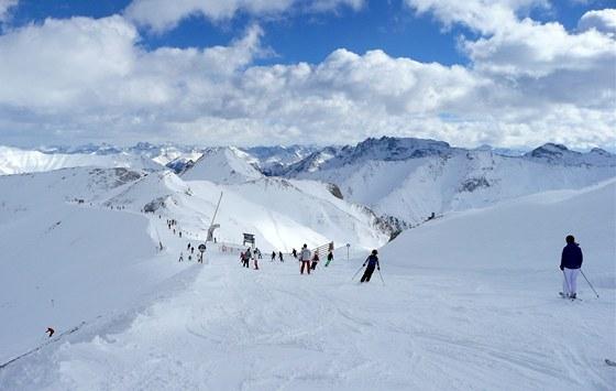 Spojovací trasa z hory Palinkopf ( 2 864 m) na hranici mezi Rakouskem a