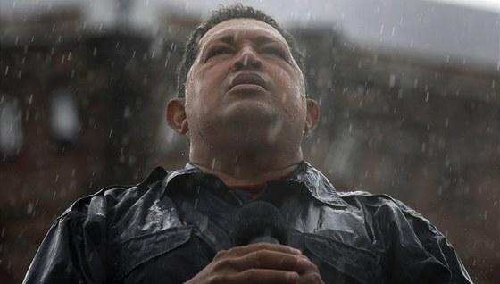 Sn�mek z Ch�vezovy prezidentsk� kampan� z ��jna 2012.