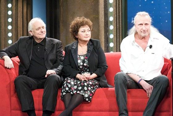 Václav Fischer, Jana Boušková a Martin Jarolímek v Show Jana Krause