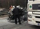 Nehoda na D1 u Domašova