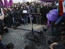 Protesty bulharských horníků v Sofii (5. března 2013)
