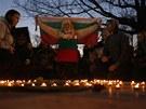 Tichá pieta za bulharského mladíka Plamena Goranova, který se upálil na protest