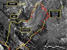 Satelitní fotografie severokorejského koncentráku v údolí Čchoma-Pong v letech
