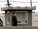 Severokorej�t� voj�ci na hranic�ch s ��nou (8. b�ezna 2013)
