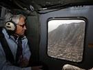 Americký ministr obrany Chuck Hagel na návštěvě Afghánistánu (9. března 2013)
