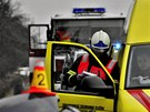 Hromadn� nehoda na frekventovan� silnici mezi Olomouc� a �ternberkem. Jeden