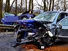 Podle dosavadn�ch v�sledk� vy�et�ov�n� zp�sobil nehodu v�z, jeho� �idi� p�ejel