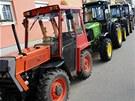 Ve Velkých Bílovicích na Břeclavsku se 2. března seřadilo celkem 231 traktorů.