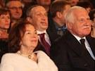 Václav Klaus a jeho choť Livia Klausová na koncertě. Vlevo ministr Martin Kuba