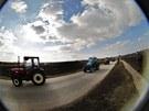 Ve Velkých Bílovicích se sjelo 231 traktorů. Vinařská obec pokořila rekord.