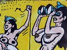 Z v�stavy kreseb K�ji Saudka v Galerii Liberec.