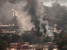 Z budovy fotbalové federace stoupal kolem sobotního poledne hustý dým.