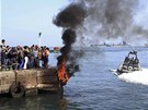 Obyvatelé Port Saídu vyšli po vyhlášení verdiktu soudu do ulic. Kolem poledne