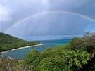 Duha jako by chtěla podtrhnout, že na ostrově Petit St. Vincent vládne unikátní