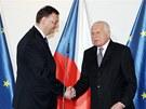 Kon��c� prezident V�clav Klaus nav�t�vil naposledy ve sv� funkci jedn�n� vl�dy,