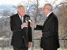 Končící český prezident Václav Klaus a jeho slovenský protějšek Ivan Gašparovič