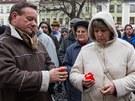 Frenštát pod Radhoštěm se bohoslužbou na náměstí Míru rozloučil s oběťmi