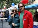 Czech Street Festival 2008 - David Duchovny a Téa Leoni - New York (4. října