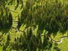 Meandry Labe v Krkono��ch.
