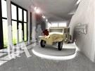 Vizualizace nového muzea karosářství. Expozice přiblíží to nejlepší, co