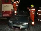 Na přejezdu mezi Městcem Králové a Běrunicemi se střetl motorový vlak s osobním