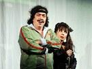 Richard Genzer a Nela Boudová ve hře Večírek