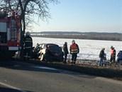 Tragická nehoda u Slaného (2. března 2013)