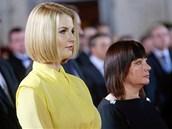 Dcera Kateřina a manželka Ivana sledují prezidentskou inauguraci Miloše Zemana