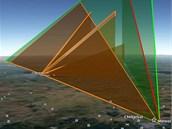 Pokus o rekonstrukci dr�hy planetky p�eletiv�� nad �eljabinskem, kterou den po